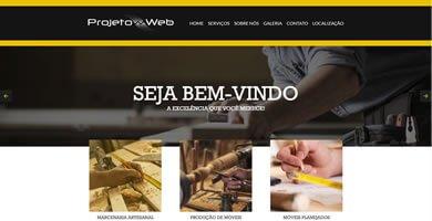 Criação de site de uma página