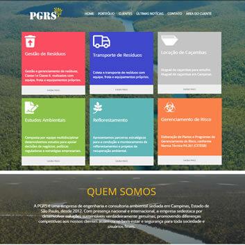 Site Empresarial Moderno Campinas - SP